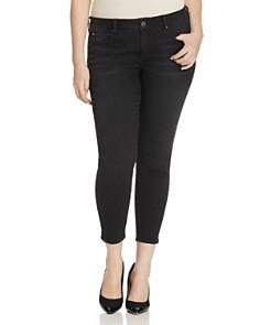 SLINK Jeans Plus - Slim Ankle Jeans in Black
