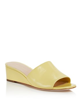 Loeffler Randall - Women's Tilly Leather Demi Wedge Slide Sandals