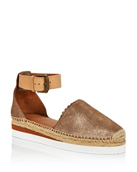 See by Chloé - Women's Leather Platform Espadrille Ankle Strap Flats - 100% Exclusive