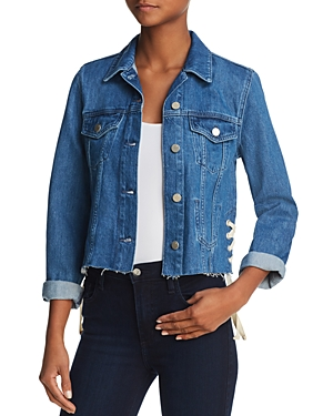 French Connection Soft Authentic Lace-Up Denim Jacket