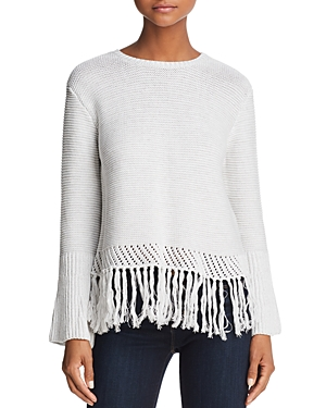 Aqua Fringe-Hem Sweater - 100% Exclusive