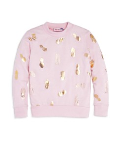 Play Six - Girls' Metallic Pineapple Sweatshirt - Little Kid