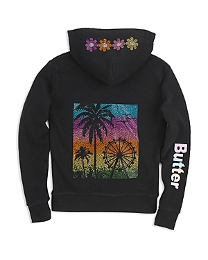 Butter Girls' Coachella Jeweled Hoodie - Big Kid