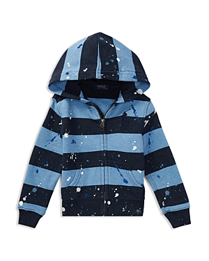 Polo Ralph Lauren Boys PaintSplattered Striped Cotton Hoodie  Little Kid