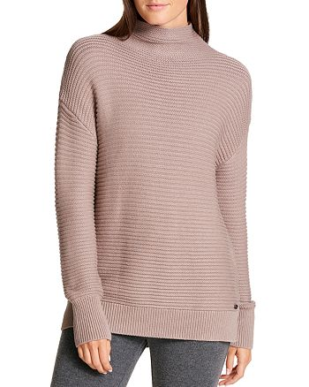 Donna Karan - Funnel Neck Ribbed Sweater