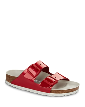 Birkenstock  WOMEN'S LIMITED EDITION ARIZONA HEX LEATHER SLIDE SANDALS