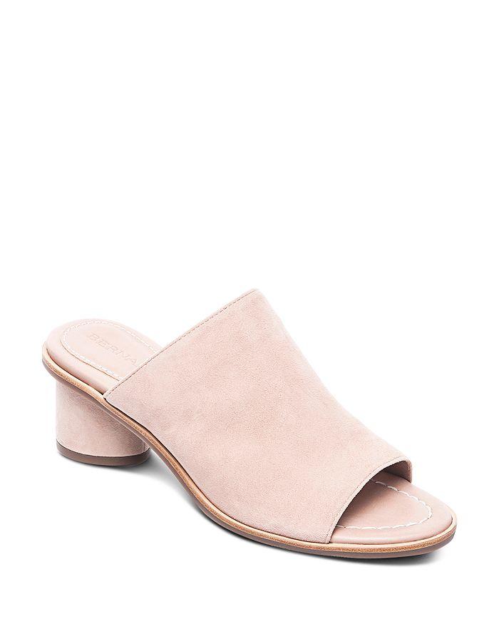 Bernardo - Women's Suede Block Heel Slide Sandals