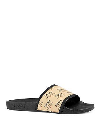 18802e205a6ac Gucci - Women s Pursuit Invite Stamp Pool Slide Sandals
