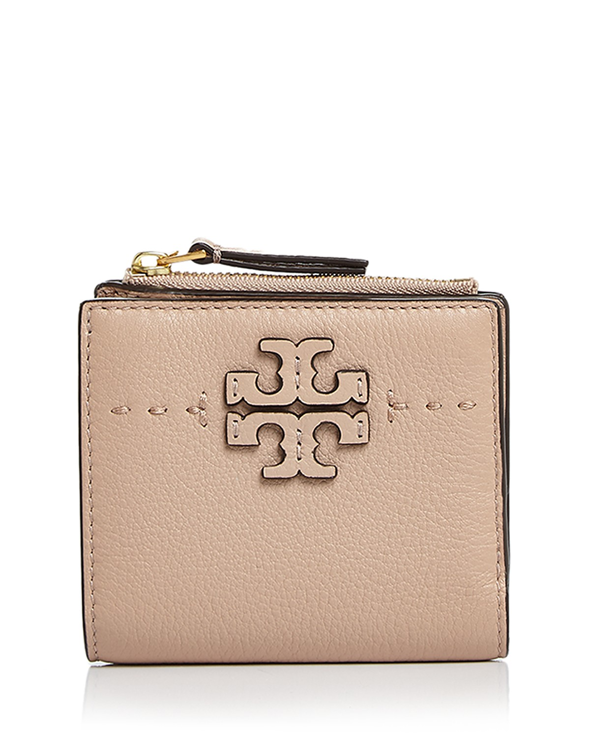 Tory Burch McGraw Mini Foldable Leather Wallet | Bloomingdale\'s