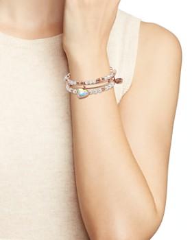 Alex and Ani - Crystal Heart Expandable Bangle Bracelets - 100% Exclusive