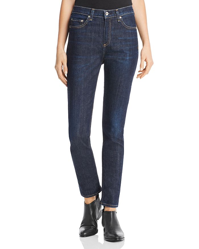 rag & bone/JEAN - Dre High-Rise Slim Boyfriend Jeans in Beverly