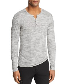John Varvatos Star USA Heathered Long Sleeve Henley - Bloomingdale's_0
