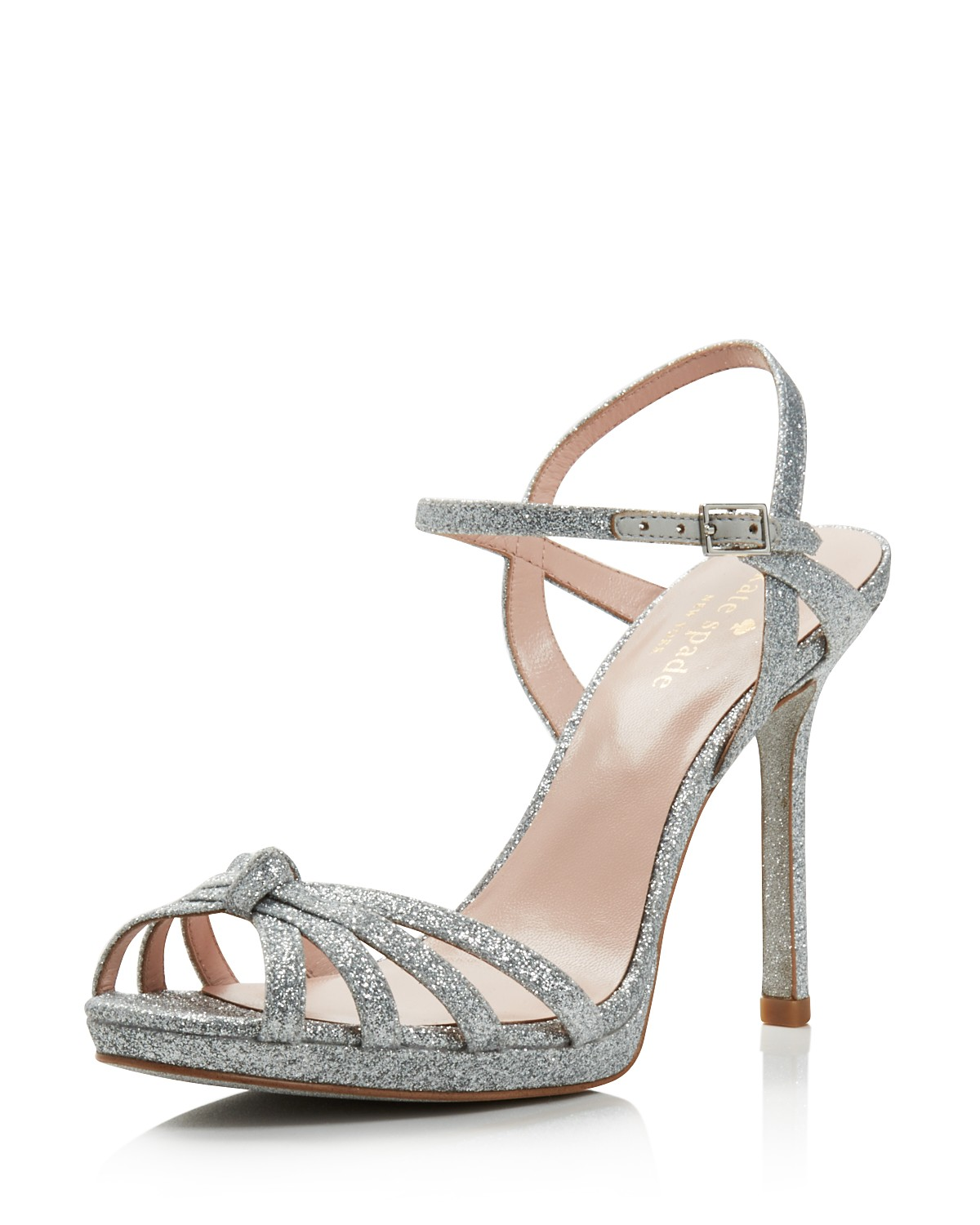 Kate Spade New York Women's Florence Glittered Leather High-Heel Sandals ziemp