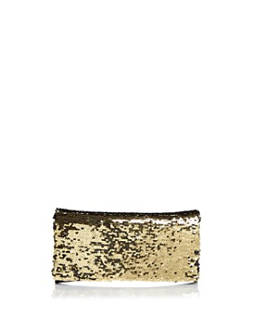 AQUA - Sequin Foldover Clutch - 100% Exclusive