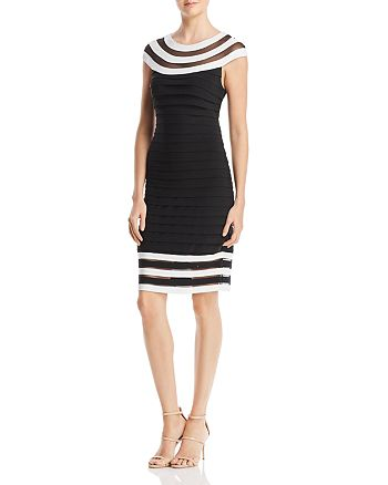 Adrianna Papell - Illusion Stripe Dress