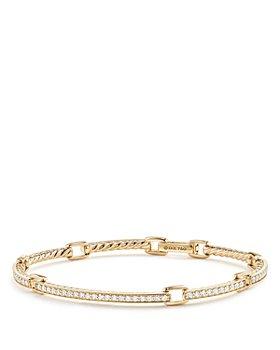 David Yurman - Petite Pavé Link Bracelet with Diamonds in 18K Gold