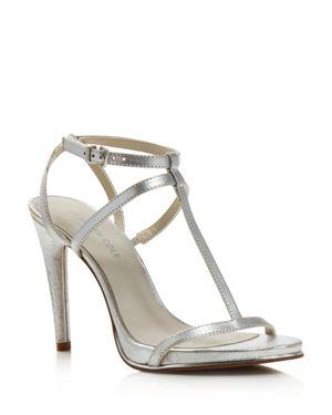 Kenneth Cole Women's Bellamy Leather High-Heel T-Strap Sandals
