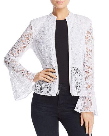 AQUA - Peplum Lace Jacket - 100% Exclusive