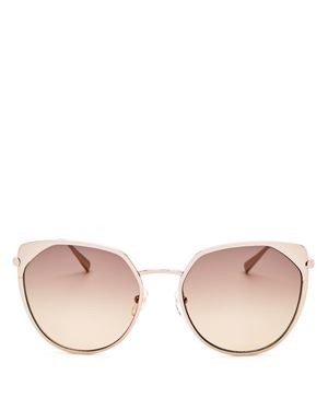 58Mm Rounded Cat Eye Sunglasses - Rose Gold