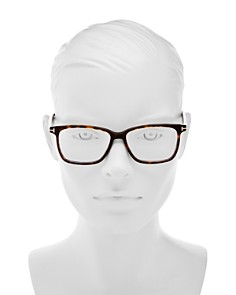 Tom Ford - Square Blue Blocker Glasses, 55mm