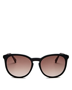 Longchamp - Women's Marchon Le Pliage Family Round Sunglasses, 56mm