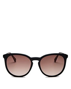 Longchamp - Women's Marchon Le Pliage Family Round Sunglasses, 56mm