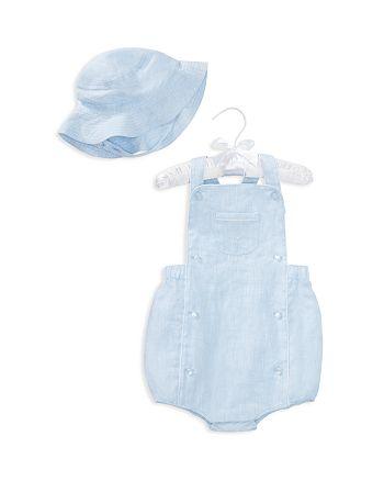Ralph Lauren - Boys' Linen Shortall & Hat Set - Baby