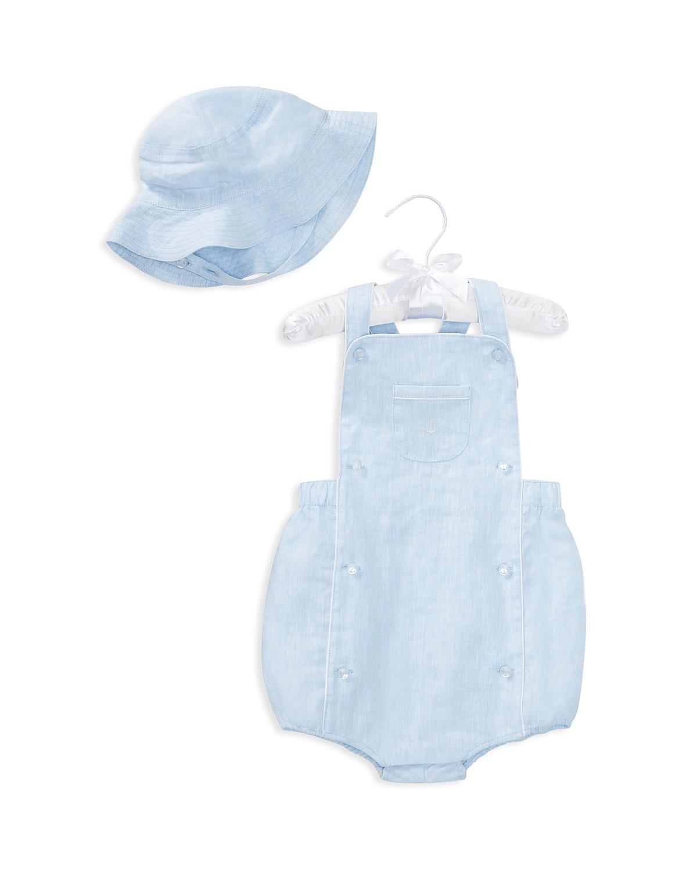 Ralph Lauren Boys\' Linen Shortall & Hat Set - Baby | Bloomingdale\'s