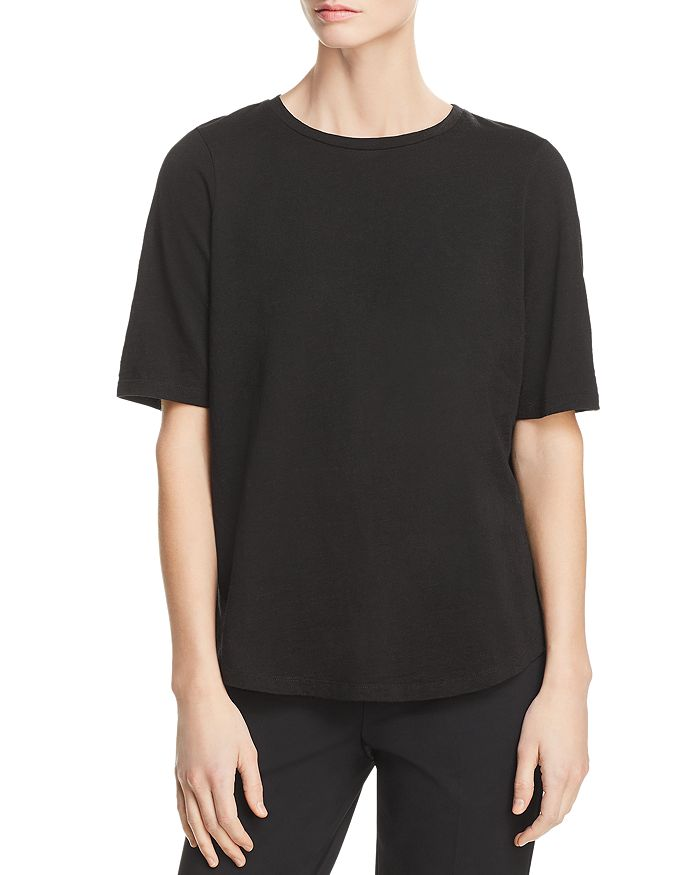 Eileen Fisher Petites - Crewneck Elbow-Sleeve Tee
