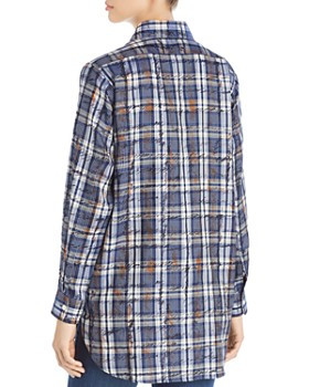 Burberry - Chava Scribble Check Silk Blouse