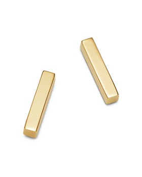 Moon & Meadow - Bar Stud Earrings in 14K Yellow Gold - 100% Exclusive