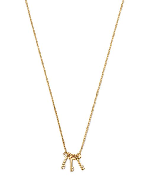 "Moon & Meadow - Triple Key Pendant Necklace in 14K Yellow Gold, 16"" - 100% Exclusive"