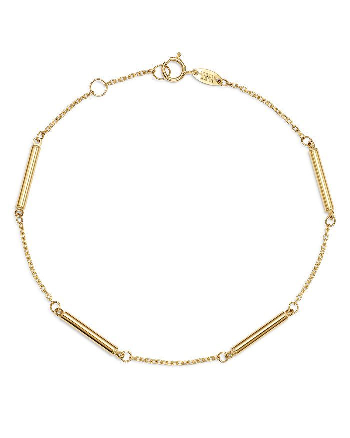 Moon & Meadow - Bar Station Bracelet in 14K Yellow Gold - 100% Exclusive