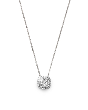 Bloomingdale's Diamond Cluster Pendant Necklace in 14K White Gold, 0.50 ct. t.w. - 100% Exclusive