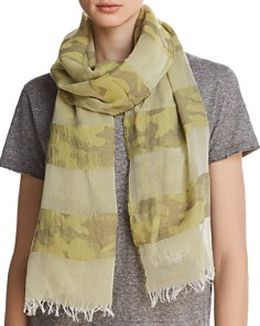 AQUA Camo Striped Oblong Scarf - 100% Exclusive - Bloomingdale's_0