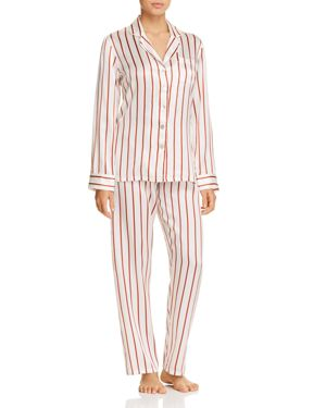 GINIA STRIPED SILK LONG PJ SET