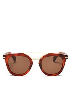 rag & bone - Women's Brow Bar Round Sunglasses, 50mm