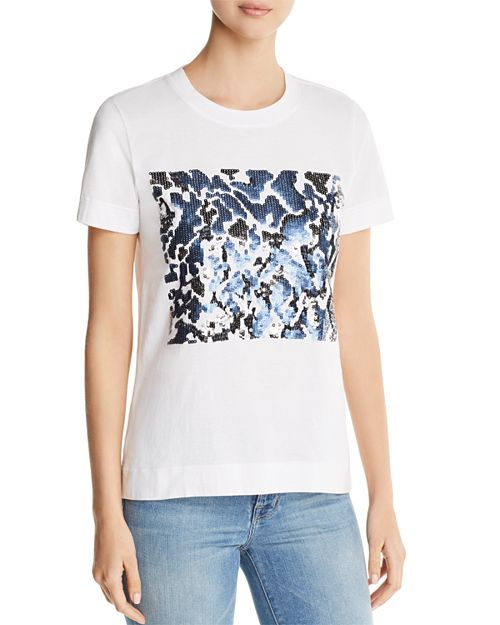Donna Karan - Sequined Graphic Tee