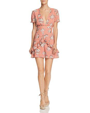 Sadie & Sage - Ruffled Floral-Print Dress - 100% Exclusive