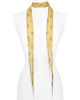 Chan Luu - Floral Print Skinny Scarf