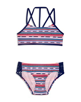 Gossip Girl - Girls' Desert Stripe 2-Piece Swimsuit - Big Kid