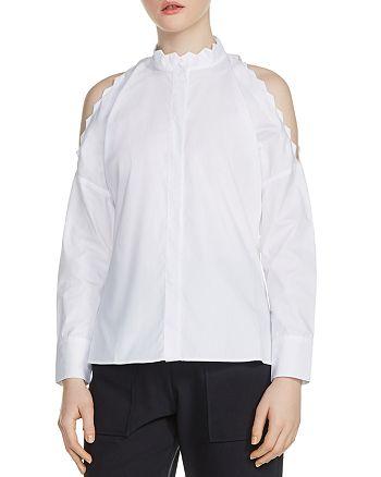 Maje - Calinka Cold-Shoulder Shirt