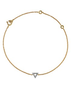 MATEO - 14K Yellow Gold Diamond Triangle Bracelet