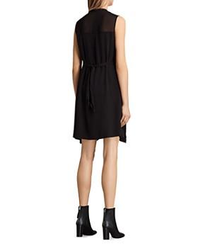 cbfbaed22cb ... ALLSAINTS - Jayda Zip-Front Silk Dress