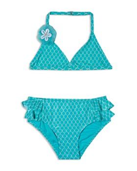 Hula Star - Girls' Shimmer Mermaid Princess 2-Piece Swimsuit - Little Kid