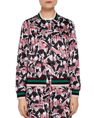COLOUR BY NUMBERS OOSEL PRINTED BOMBER JACKET