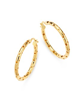 Bloomingdale's - Perforated Hoop Earrings in 14K Yellow Gold - 100% Exclusive