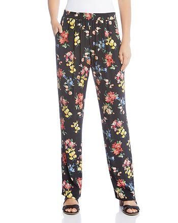 Karen Kane - Floral Straight Pants