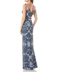 JS Collections - Floral Appliqué Gown