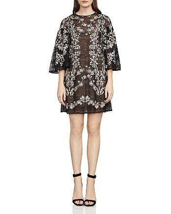 BCBGMAXAZRIA - Evangeline Embroidered Lace Dress